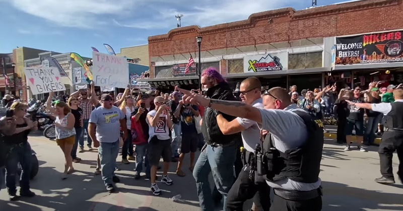 WATCH: Antifa Arrives in Sturgis -- And It Does Not Go Well