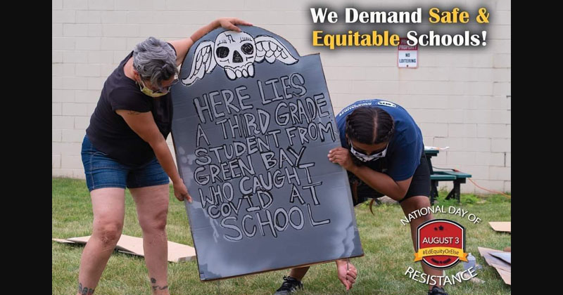 Teachers' Union Makes Tombstones to Scare Kids From Returning to School