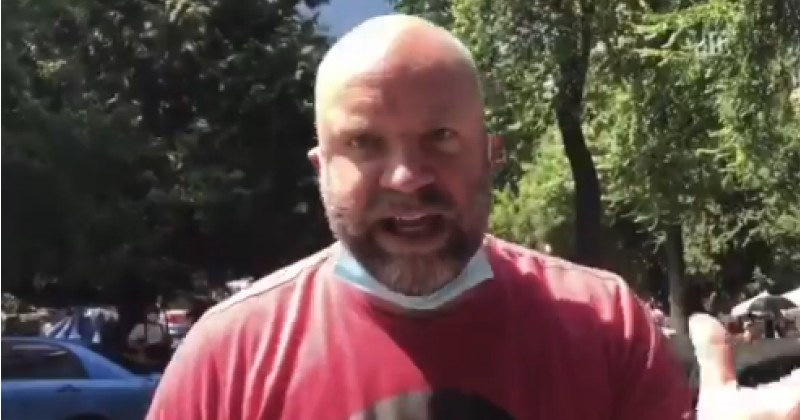 Video: White BLM Protester Uses N-Word, Claims He's Allowed To Because of Rap Music
