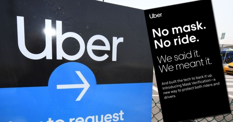 Uber Demands Refusniks Take 'Mask Selfies' Before They're Allowed to Use Service