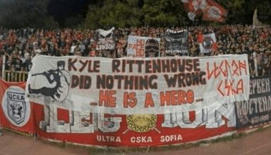 Bulgarian Soccer Fans Hold 'Kyle Rittenhouse Did Nothing Wrong' Banner