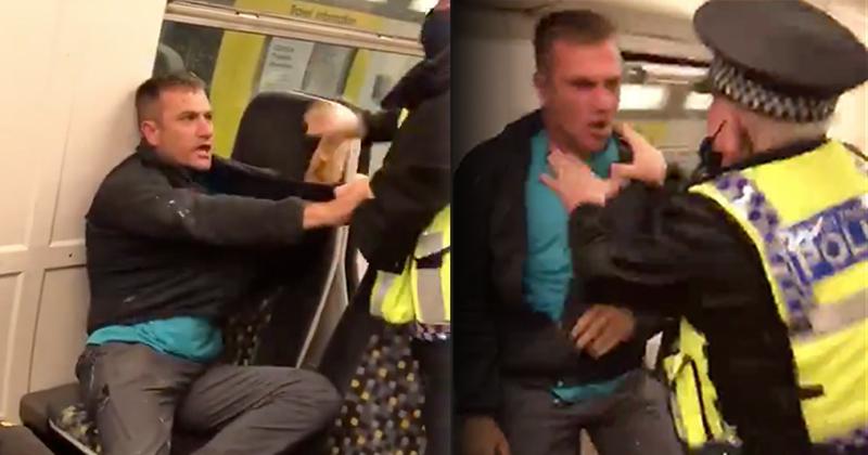 UK Transport Police Manhandle, Pepper Spray Train Passenger For Not Wearing Mask