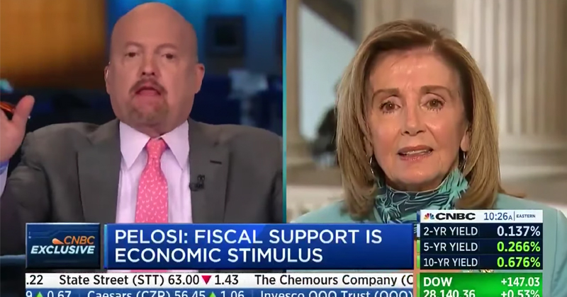 """CNBC Host Calls Pelosi """"Crazy"""" to Her Face, Immediately Apologizes"""