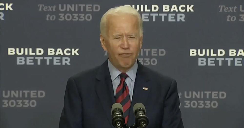 """""""End Of Quote"""": Biden Goes Full Ron Burgundy, Accidentally Reads Teleprompter Cues"""
