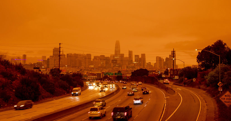A Sign Of The Times? Unprecedented Fires Have Turned Skies Bright Orange And Blood Red Over California And Oregon