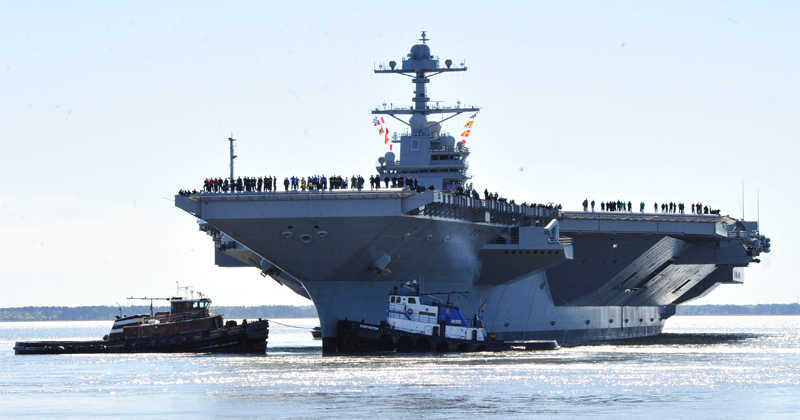 Navy Aims to Have USS Ford Carrier's Systems Rigged 'So Things Don't Break' By 2022