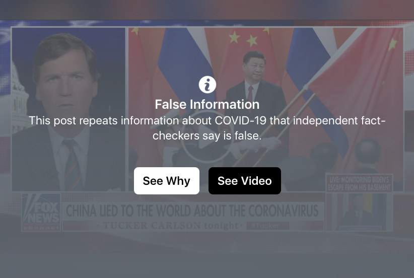 Breaking! Facebook Censors Tucker Interview With Chinese Scientist Reporting China Intentionally Released Wuhan Virus