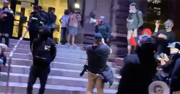 Video: Black Lives Matter Using White People As Human Shields Against Police