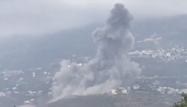 Huge Explosion Hits South Lebanon Centered on Hezbollah Arms Depot