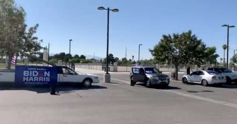 """PATHETIC: Nobody Shows Up for """"Latinos for Biden"""" Parade in Vegas"""