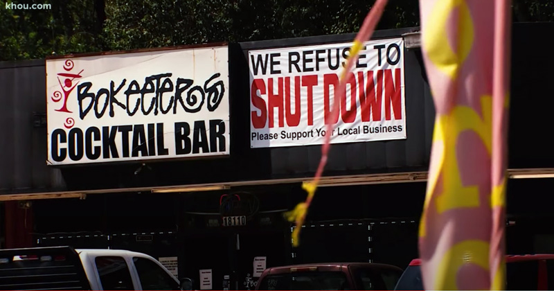 Come and Take It! Texas Bar Owner Refuses to Shut Down in Defiance of State Mandate