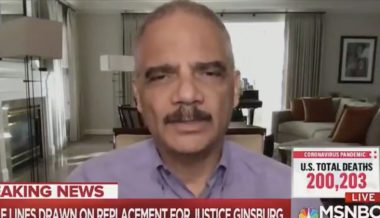 Eric Holder Says Dems Must Pack Supreme Court If Trump Confirms 'Illegitimate' Justice