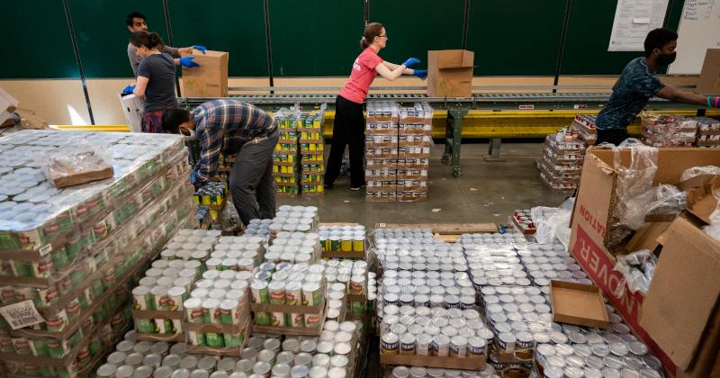 Massive Lines Form Outside Virginia Food Bank