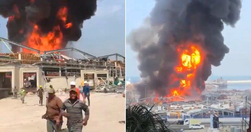 Beirut Port Engulfed in Another Huge 'Mystery' Fire