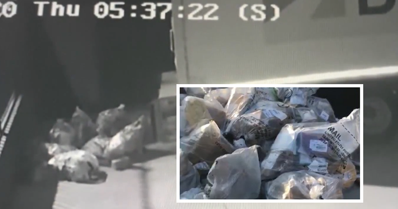 Surveillance Camera Captures 'Huge Pile Of Mail' Dumped In California Parking Lots
