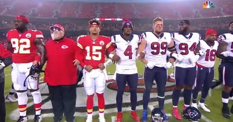 NFL Fans Boo Woke Political Opener to Chiefs-Texans Game