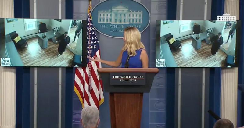 SAVAGE: Press Sec. Opens Briefing By Looping Footage of Pelosi Inside Salon
