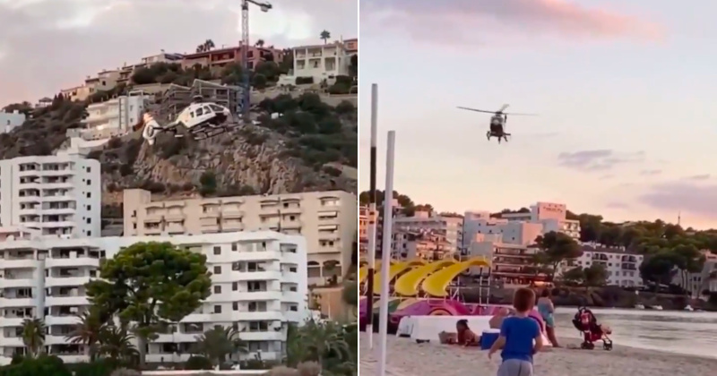 Watch: Spanish Police Berate Beachgoers Over COVID Rules From Helicopter