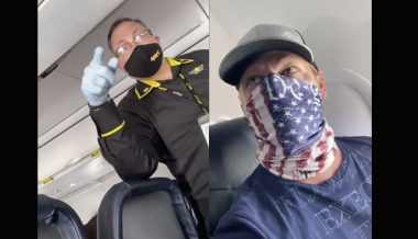 Video: Spirit Airlines Flight Attendant Threatens Passenger With Arrest Over 'Patriotic' Mask