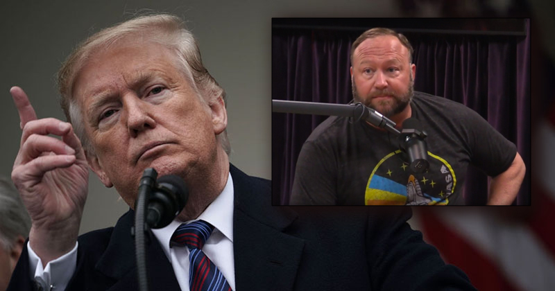 Spotify to Post Alex Jones Interviews after President Trump Tweets About It