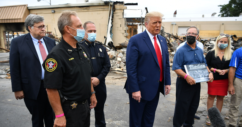 Trump Visits Kenosha to Rally for 'Law and Order' After Violent Riots
