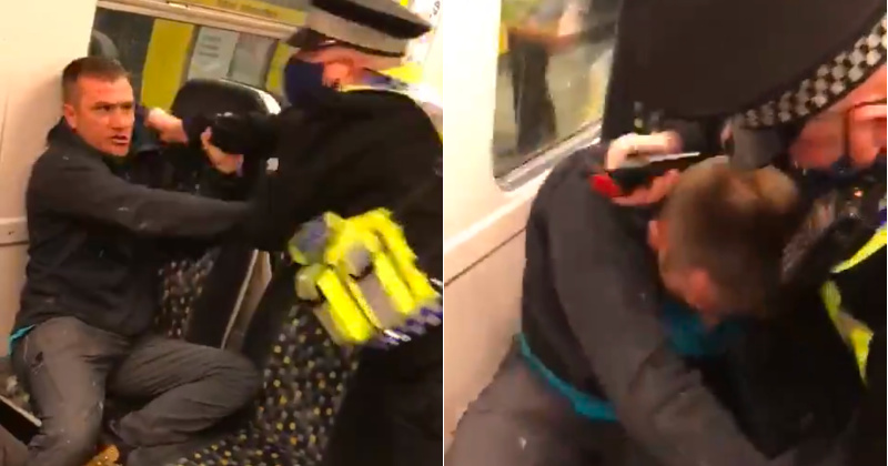 Watch: UK Cop Fights, Pepper-Sprays Maskless Commuter With 'Health Condition'